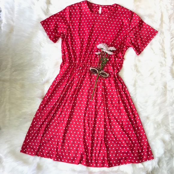 Vintage Dresses   Red White Polka Dot Plus Size Pinup Dress   Poshmark